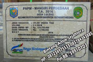 Prasasti Marmer PNPM
