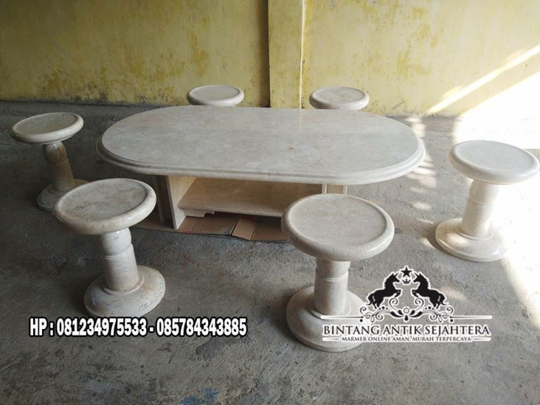 Meja Marmer Oval 2