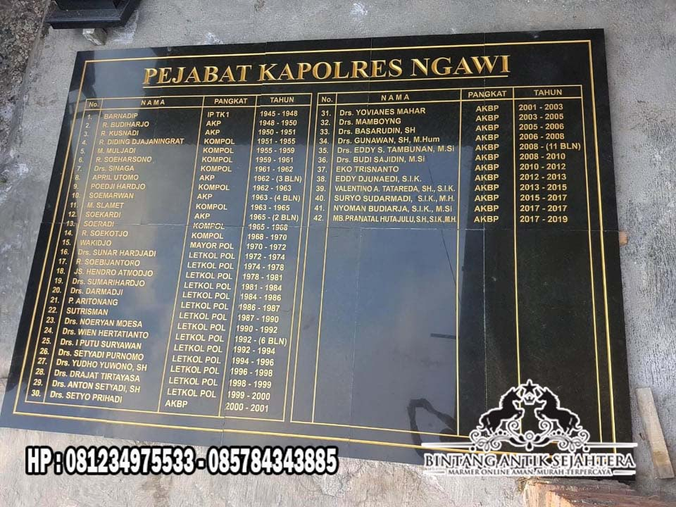 Papan Nama Granit