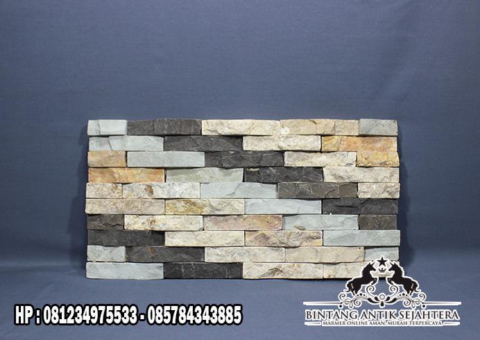 Wall Cladding Batu Alam Kombinasi Terbaru
