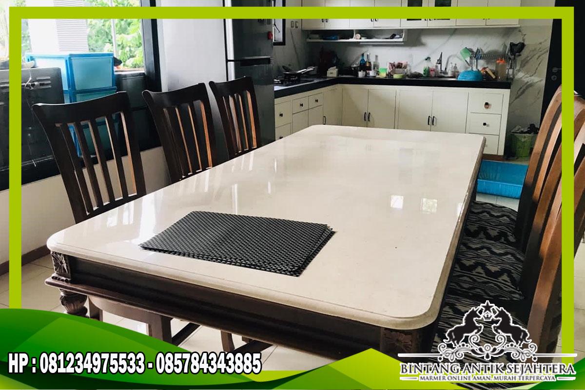 Harga Top Table Marmer | Meja Makan Marmer